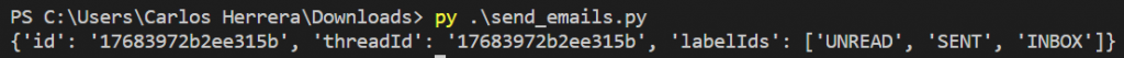 How to send emails using gmail using python 3 Console